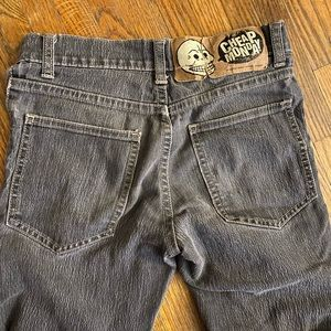 Cheap Monday gray distressed skinny jeans